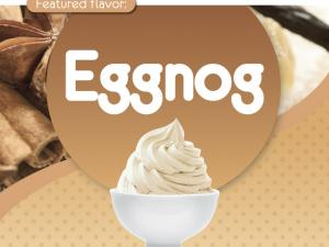 branded cup of eggnog yogurt